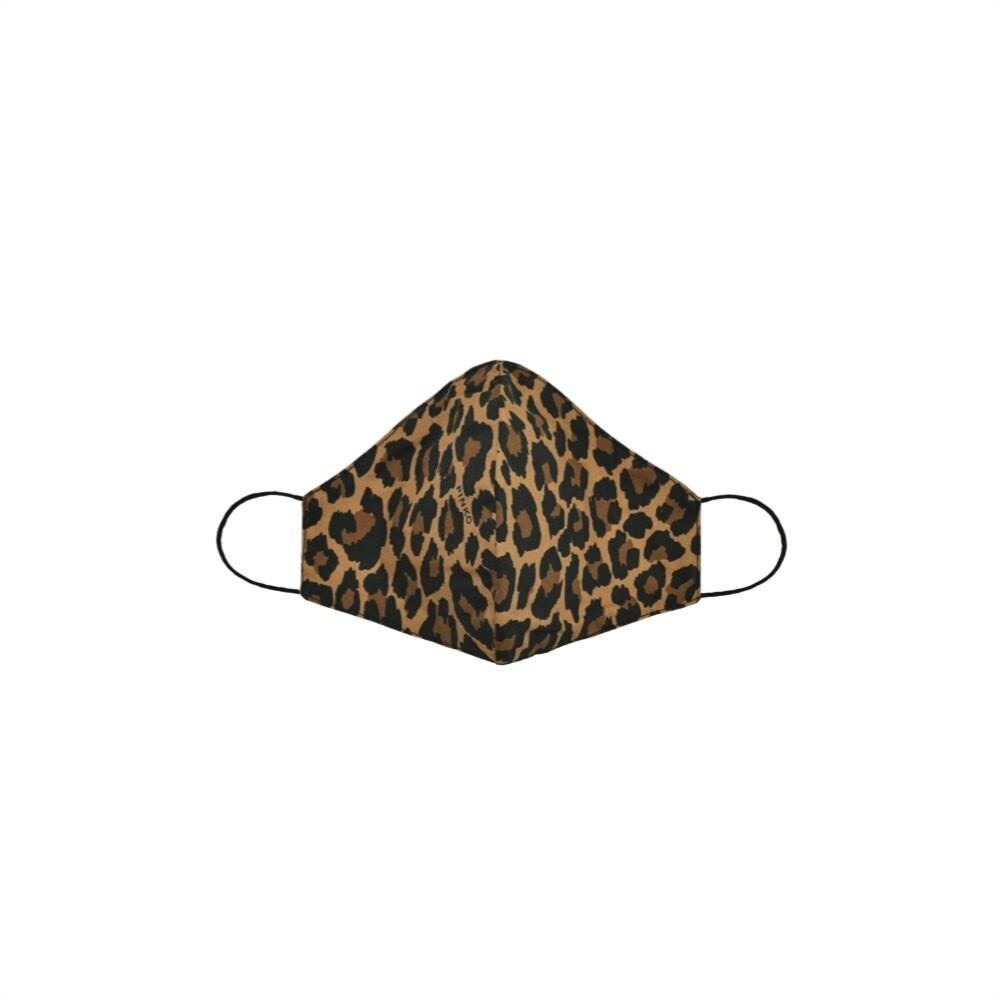 PINKO - Mascherina sagomata leopardata - Mult. Beige