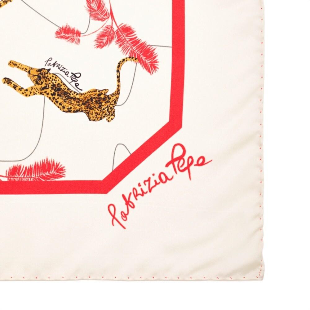 PATRIZIA PEPE - Foulard in seta 90x90 - Sand Leopard Print
