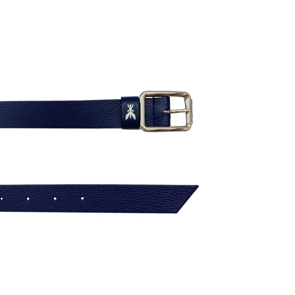 PATRIZIA PEPE - Cintura vita bassa in pelle martellata - Dress Blue