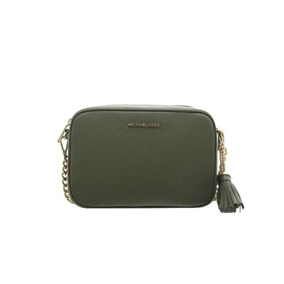MICHAEL KORS - Tracolla Ginny in pelle - Army Green