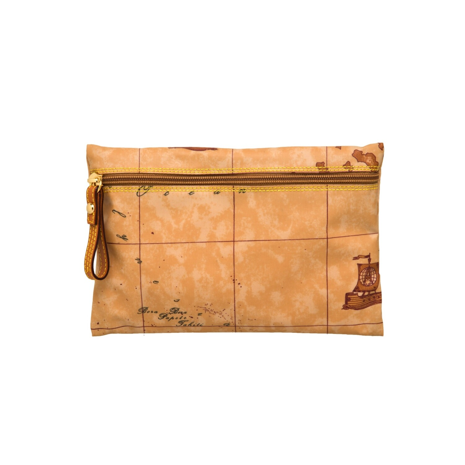 ALVIERO MARTINI - Geo Soft Pochette portatutto con zip - Natural