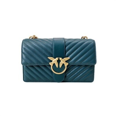 PINKO - Love Classic Icon V Quilt - Dark Green