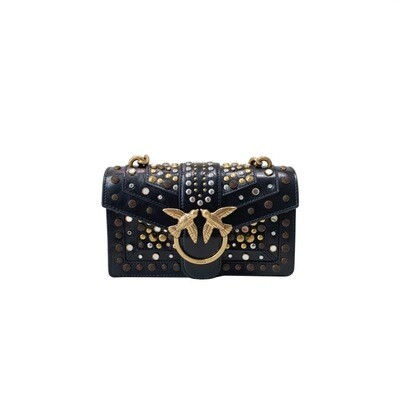 PINKO - Love Mini Icon Icon New Studs - Black