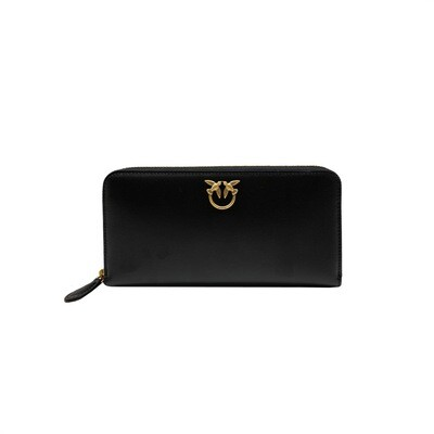 PINKO - Ryder Wallet Zip Around - Black