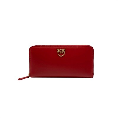 PINKO - Ryder Wallet Zip Around - Ruby Red