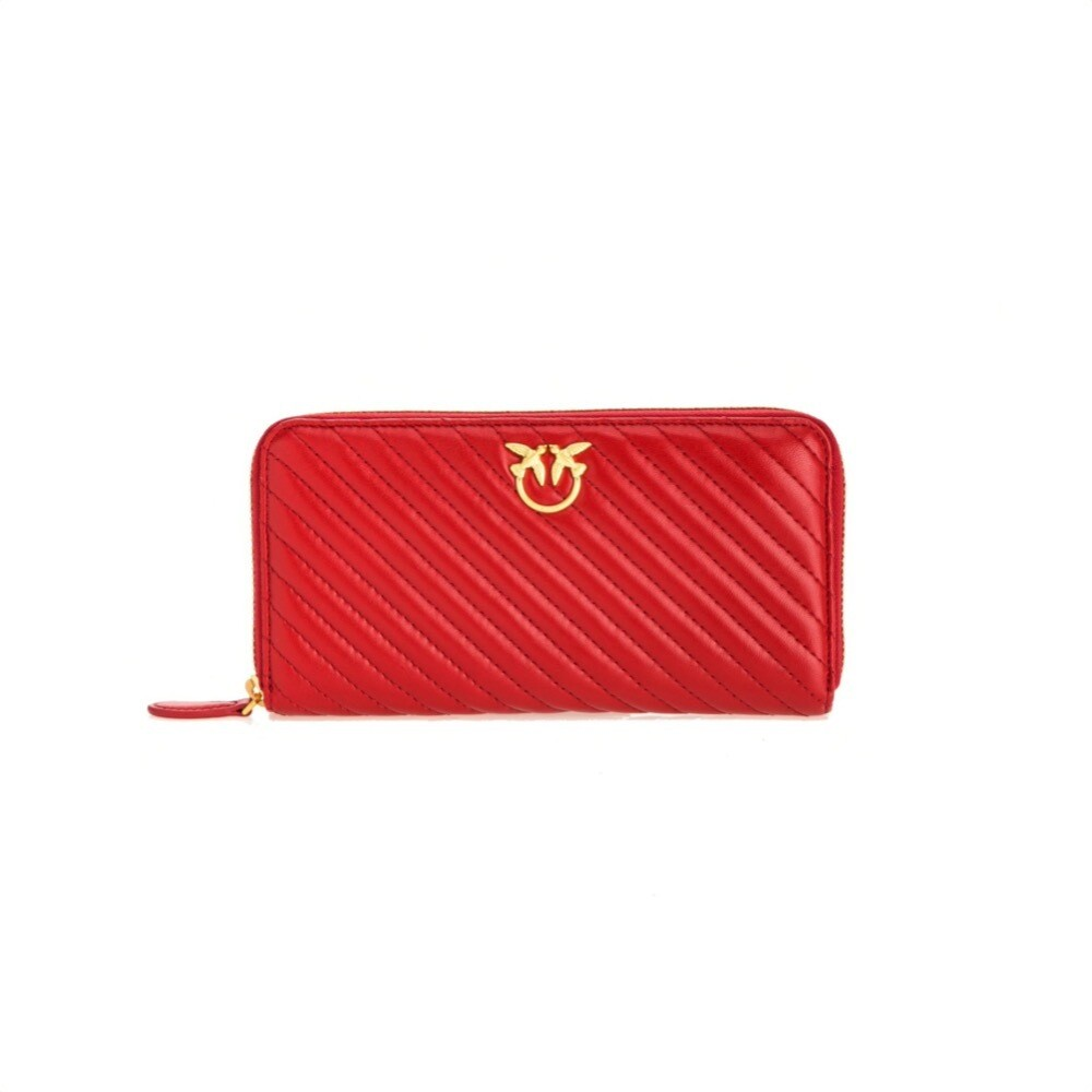 PINKO - Ryder Wallet Zip Around Quilt - Ruby Red