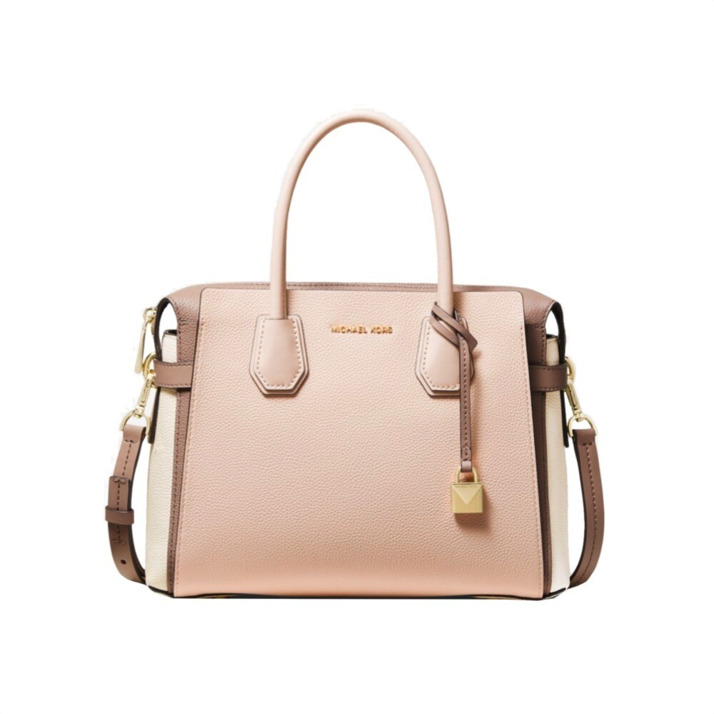 MICHAEL KORS - Mercer MD Borsa a mano - Light Sand Multi