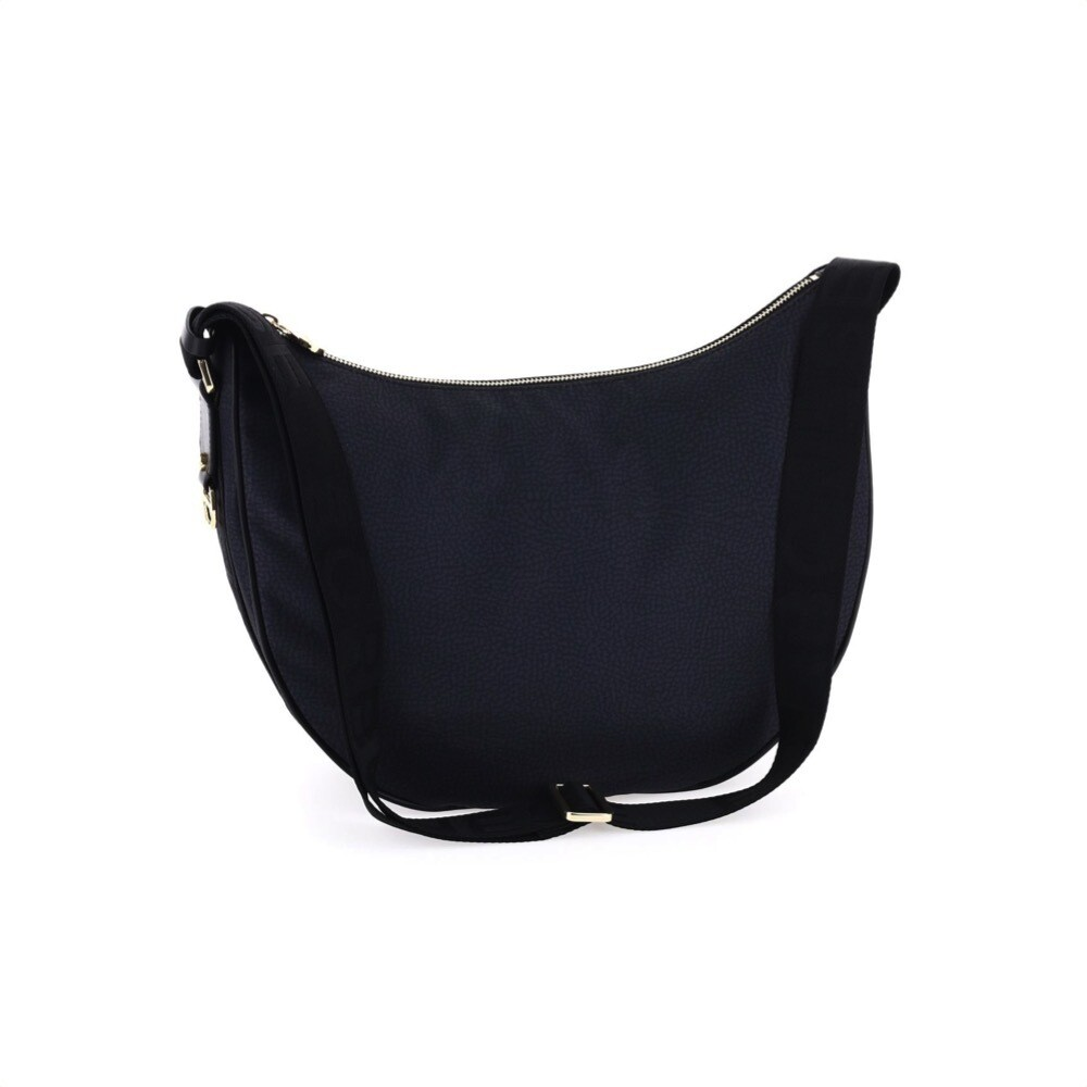 BORBONESE - Luna Bag Middle Nylon OP - Black