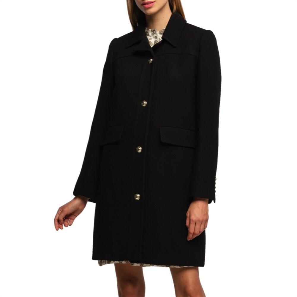 MICHAEL KORS - Cappotto con bottoni - Black