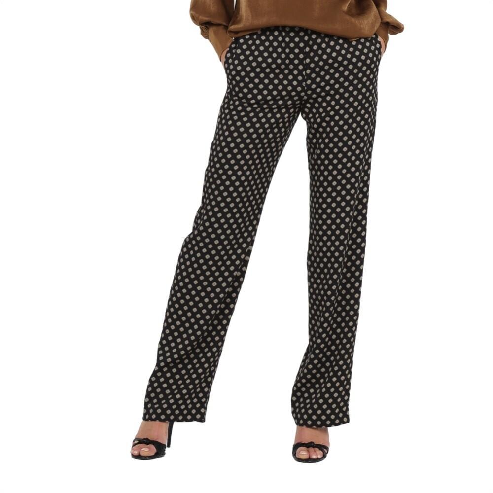 MICHAEL KORS - Pantaloni dritti stampa Medallion - Black
