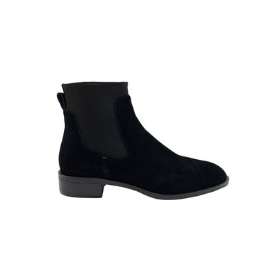 WHAT FOR - Ryan stivaletto basso suede - Black
