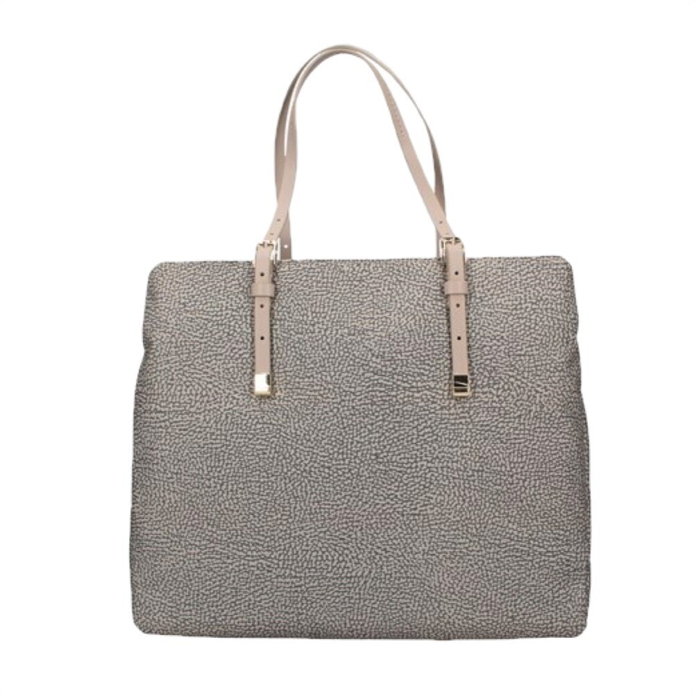 BORBONESE - Shopping Large con tracolla - Taupe