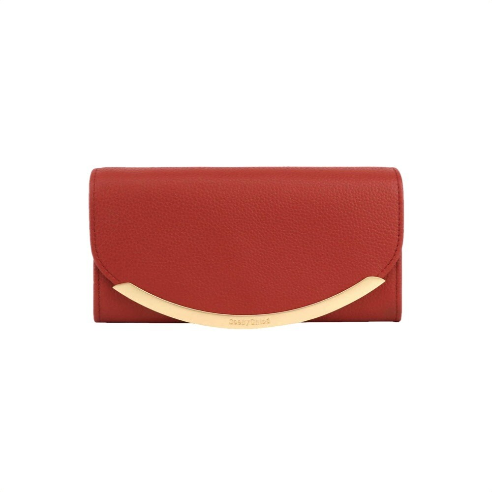 SEE BY CHLOÉ - Lizzie Portafoglio lungo - Faded Red