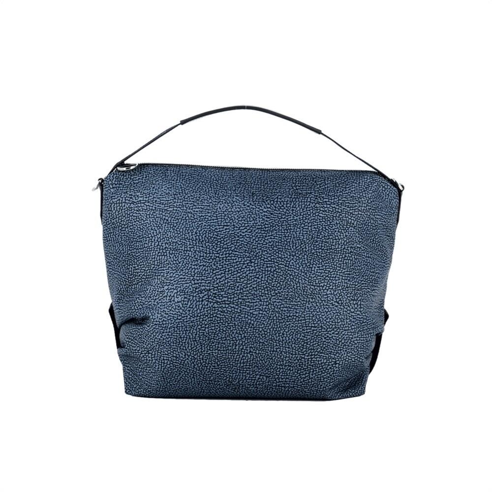 BORBONESE - Hobo Medium Nylon Riciclato OP - Blue/Black