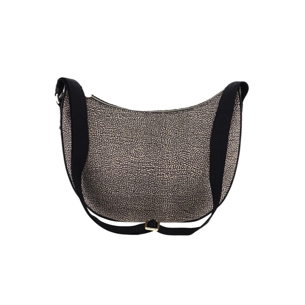BORBONESE - Luna Bag Middle Nylon Riciclato OP - OP Natural/Black