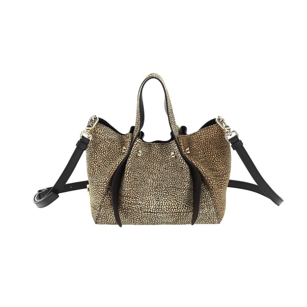 BORBONESE - Aspen Bag Small - OP Natural/Black