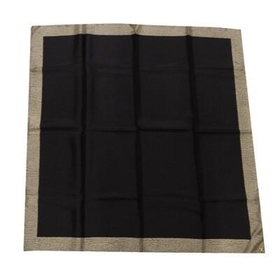 BORBONESE - Foulard Bordo OP 90x90 - Black/OP Natural