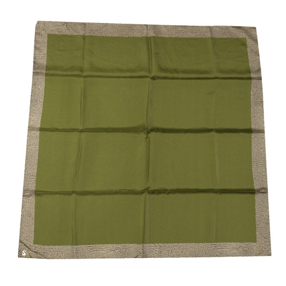 BORBONESE - Foulard Bordo OP 90x90 - Green/OP Natural