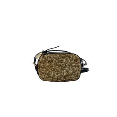 BORBONESE - Camera Bag Mini - OP Natural/Black