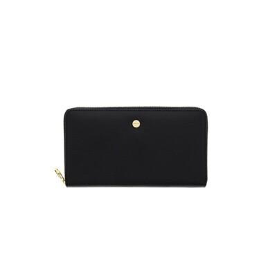 BORBONESE - Portafoglio Large Zip Around in pelle - Black