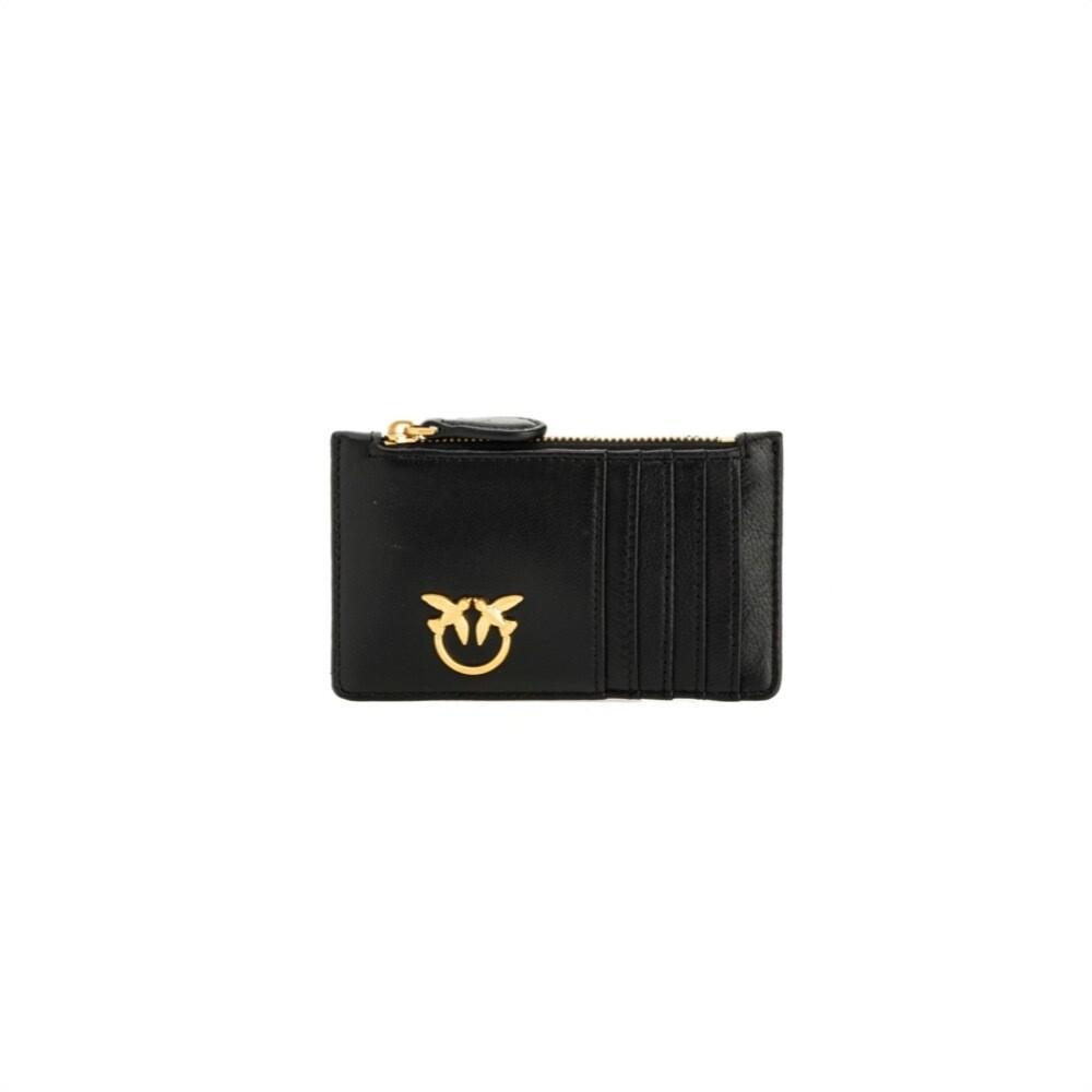 PINKO - Airone Portacarte con zip - Black