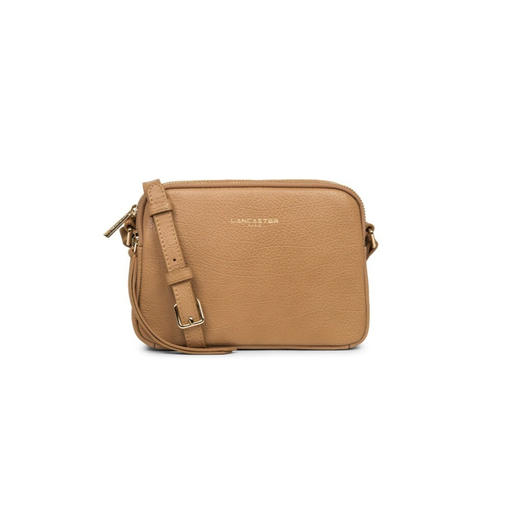 LANCASTER - Dune Small tracolla due zip - Camel