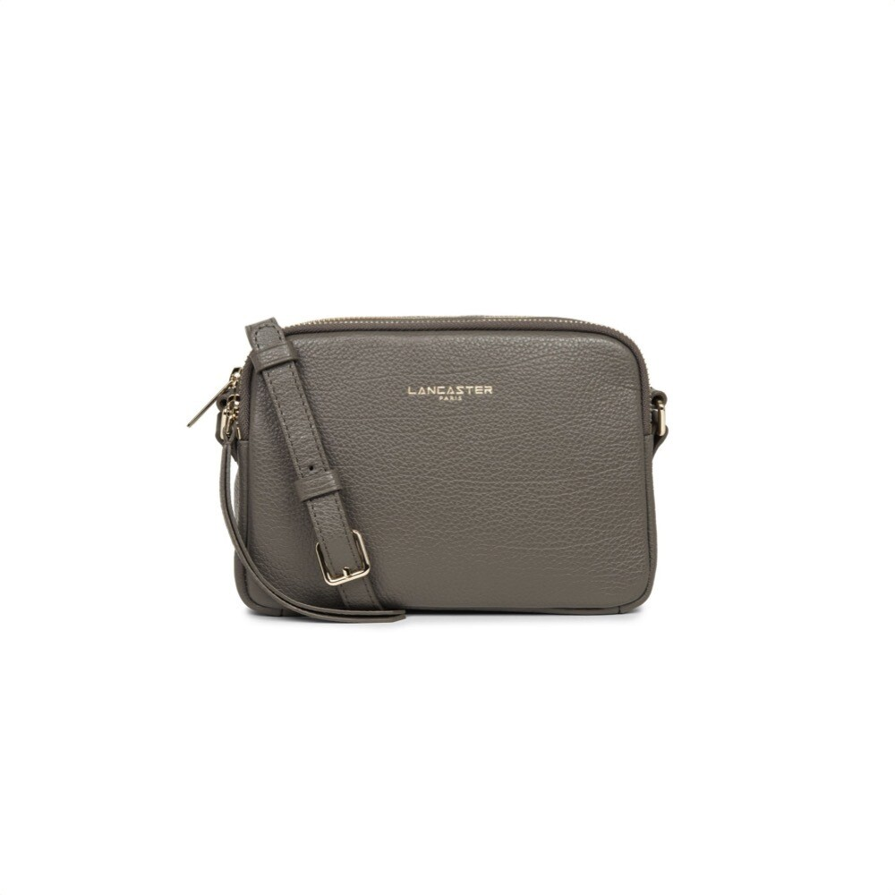 LANCASTER - Dune Small tracolla due zip - Gris