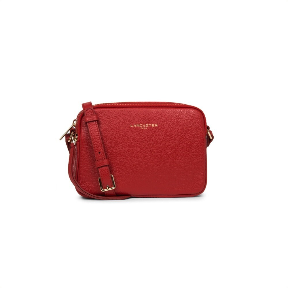LANCASTER - Dune Small tracolla due zip - Rouge