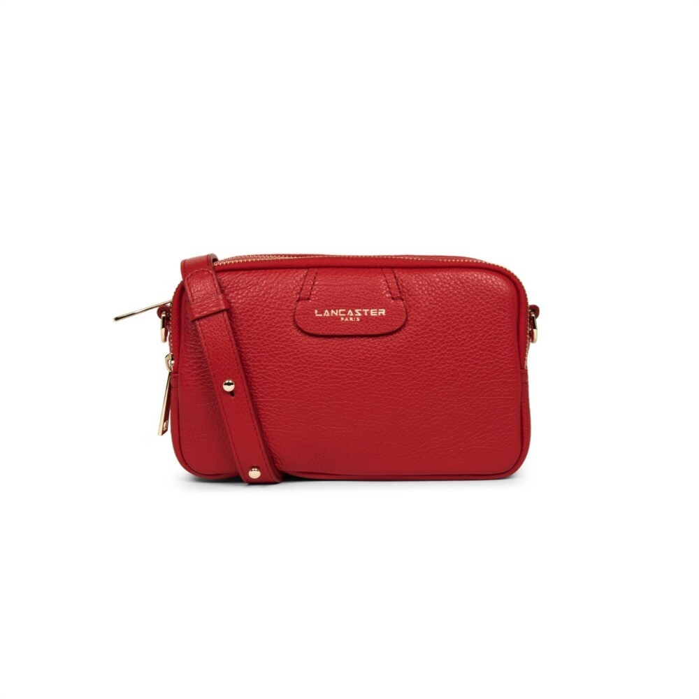 LANCASTER - Dune Small tracolla tre zip - Rouge