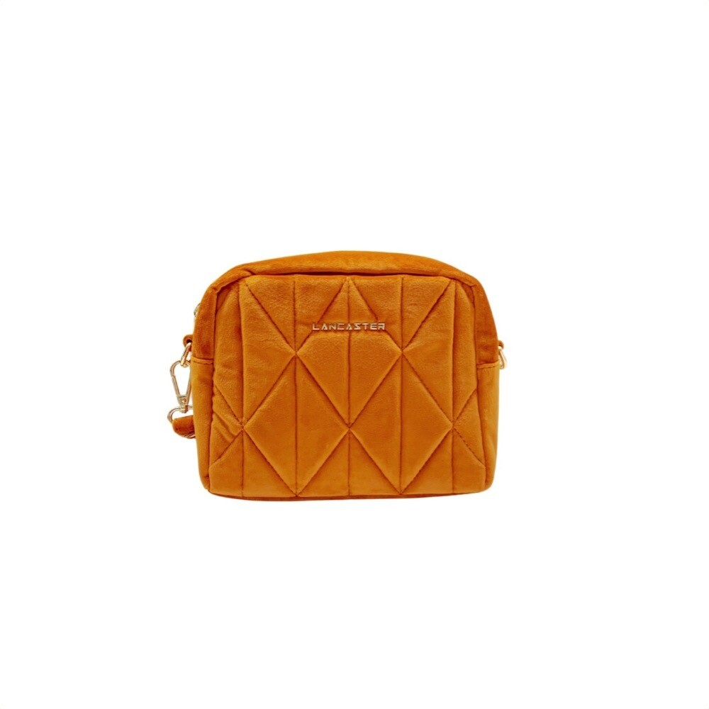 LANCASTER - Actual Velvet Matelassé Crossbody Small - Gold