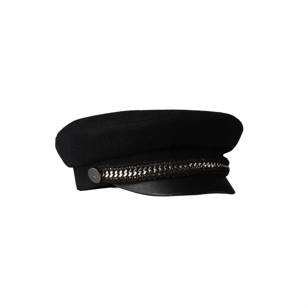 KARL LAGERFELD - Cappello da capitano in lana - Black