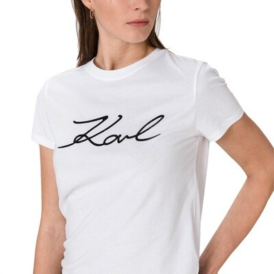 KARL LAGERFELD - T-shirt Karl signature - White