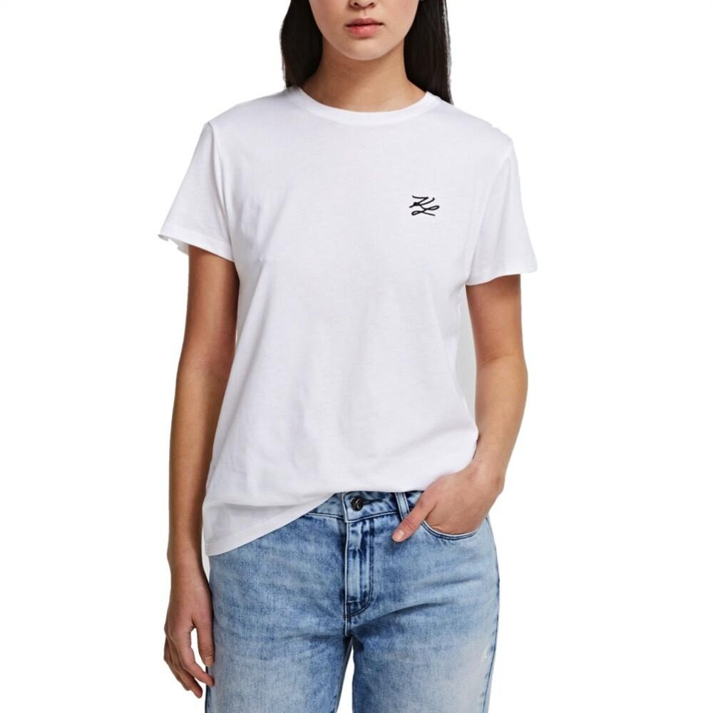 KARL LAGERFELD - T-shirt KL signature - White