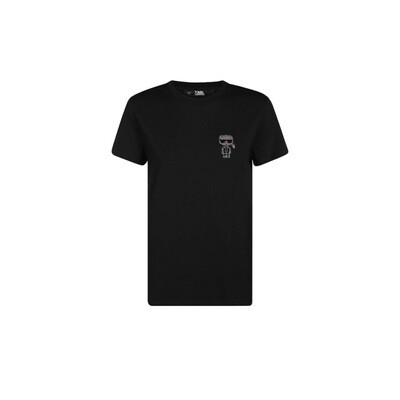 KARL LAGERFELD - T-shirt mini Karl strass - Black