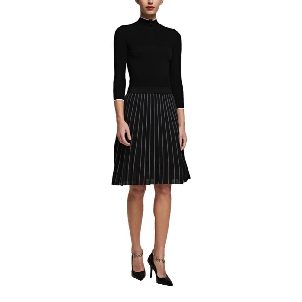 KARL LAGERFELD - Vestito in maglia athleisure - Black