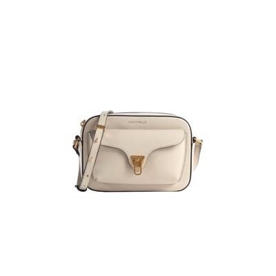 COCCINELLE - Beat Soft Camera Bag - Lambskin White