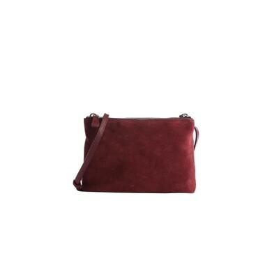 COCCINELLE - Coralie Suede Mini Bag - Marsala