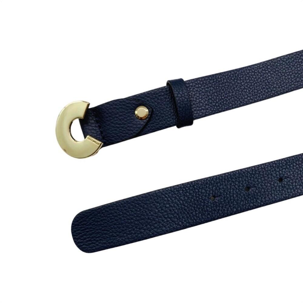 COCCINELLE - Cintura Logo C in pelle - Ink