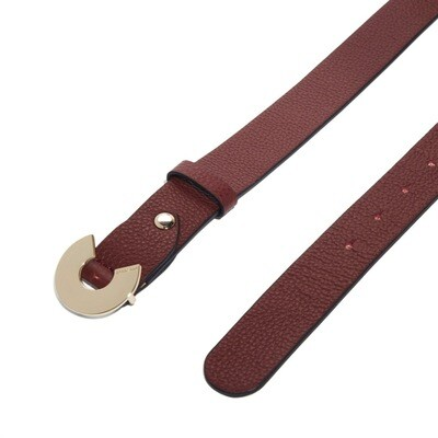 COCCINELLE - Cintura Logo C in pelle - Marsala