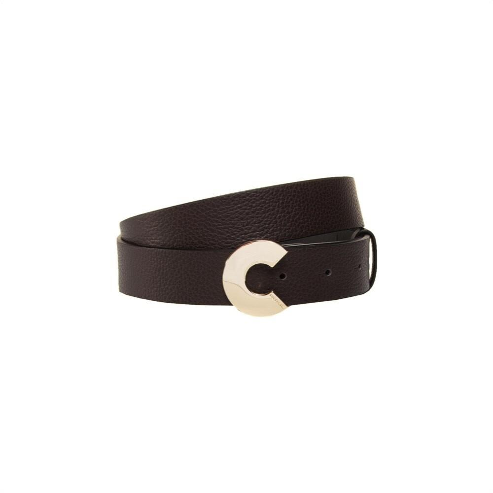 COCCINELLE - Cintura Logo C in pelle - Testa Moro