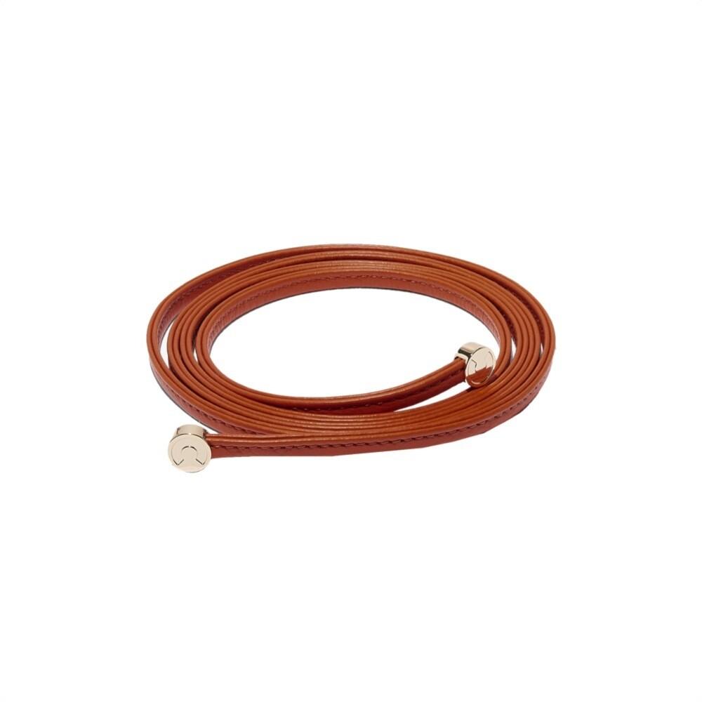 COCCINELLE - Cintura Dou Dou in pelle - Caramel