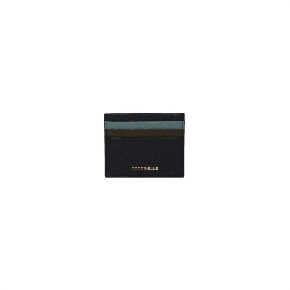 COCCINELLE - Metallic Soft Portacarte - Noir/River Green/Reef
