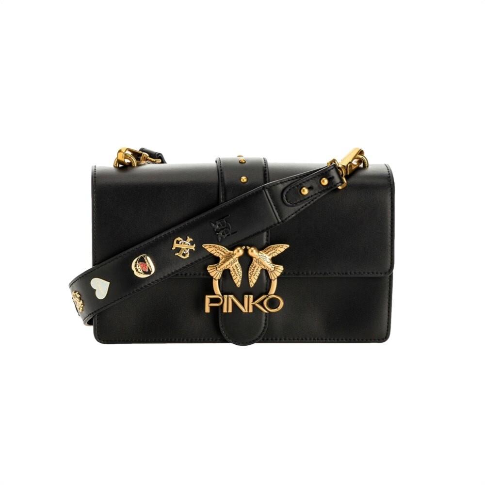 PINKO - Love Classic Icon Simply Vitello Seta - Black