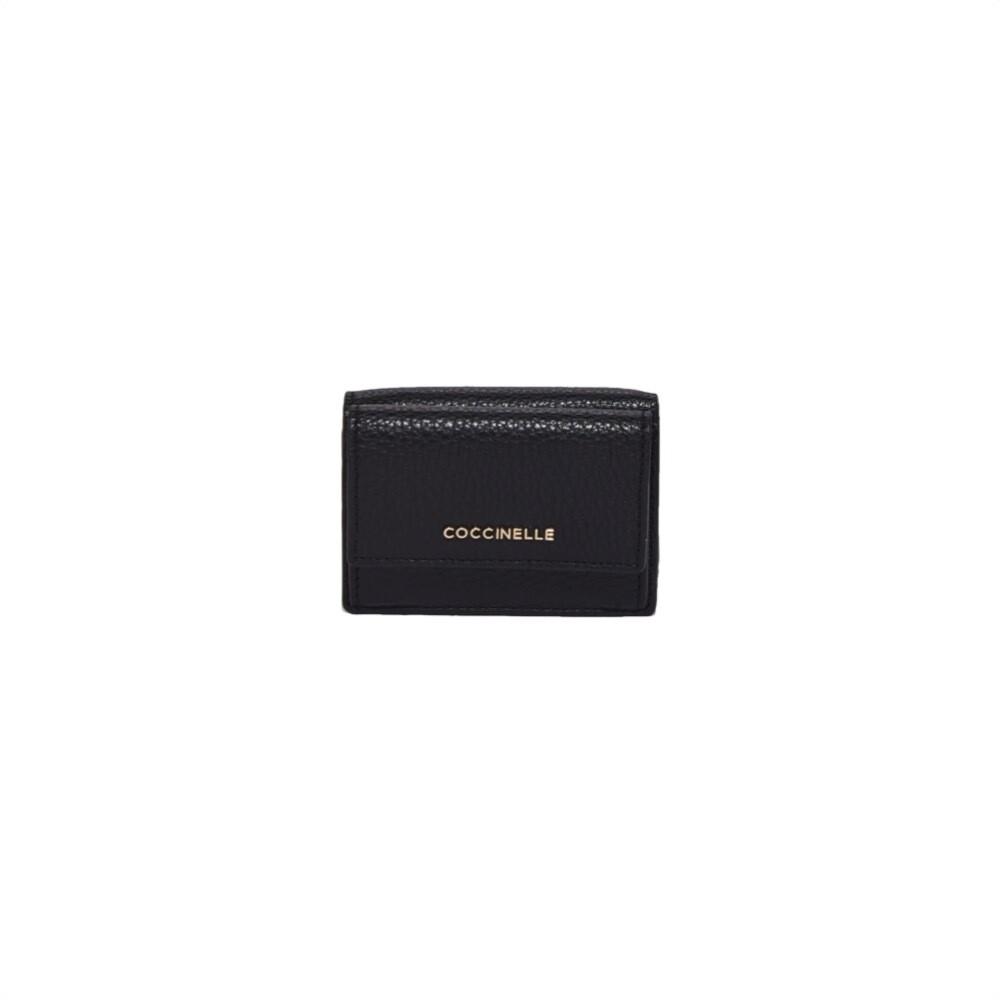 COCCINELLE - Metallic Soft Portafoglio Mini - Noir