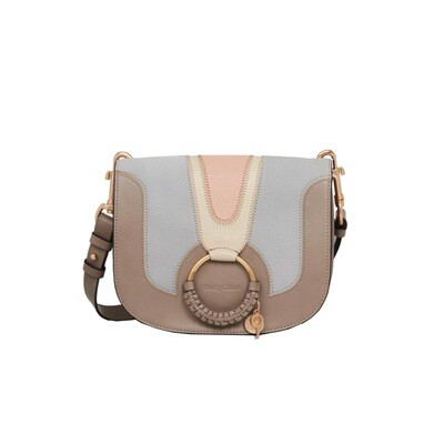 SEE BY CHLOÉ - Hana Small Patchwork Crossbody Bag - Motty Grey
