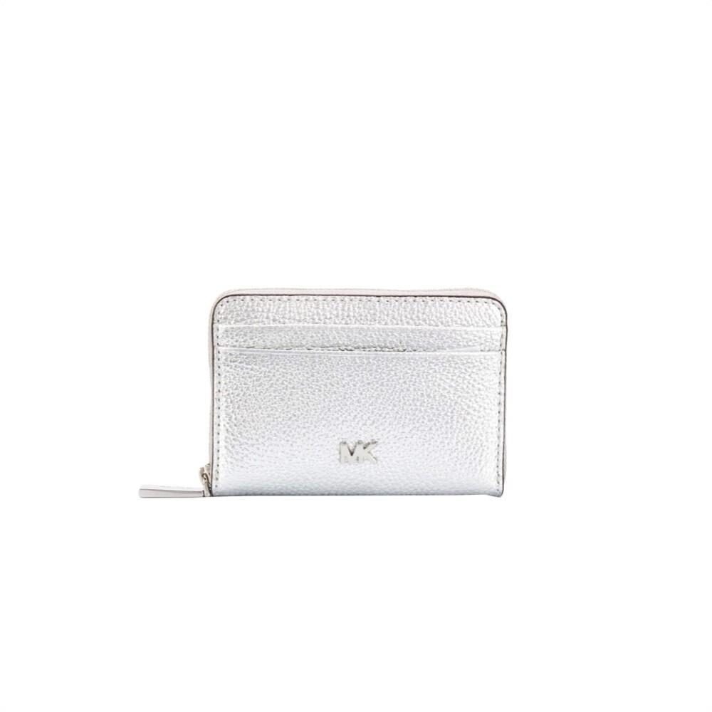 MICHAEL KORS - Mott Zip Around Coin Card Case - Silver