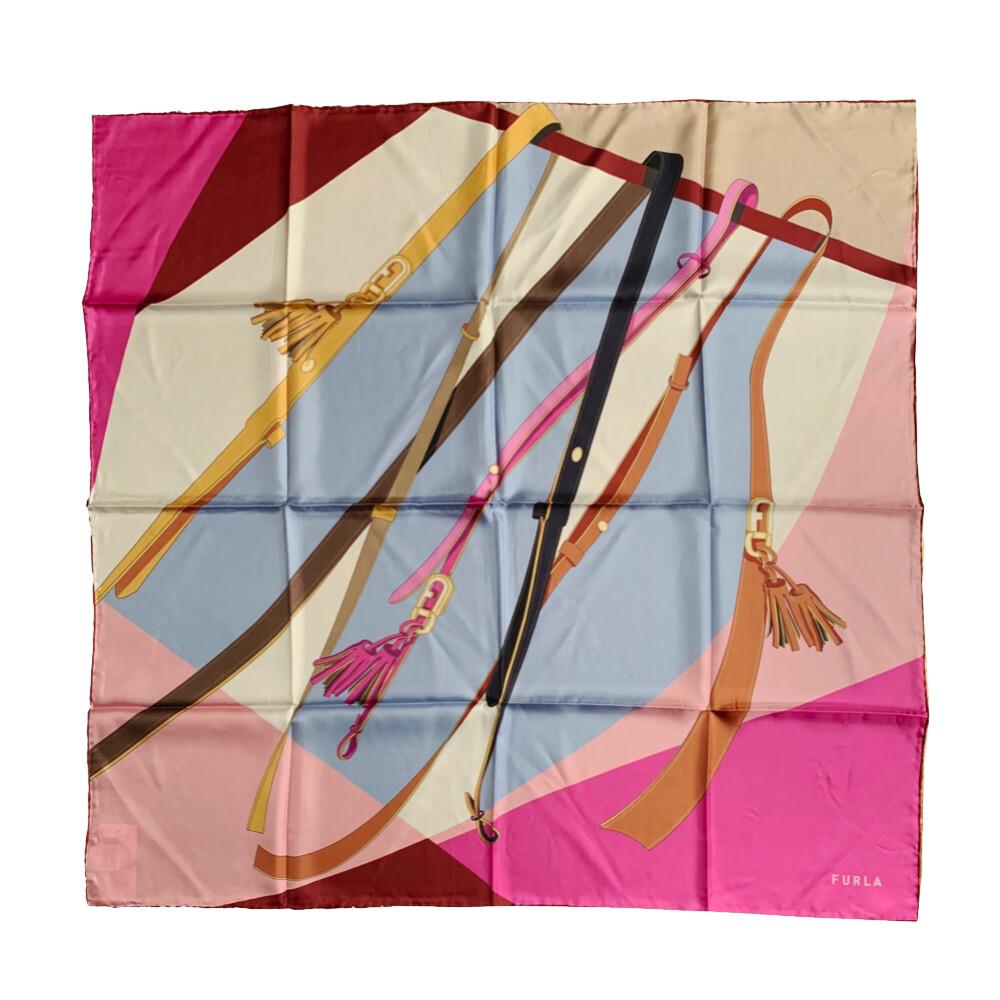 FURLA - Foulard Tortona Carrè nappe 90x90 - Flamingo Purple