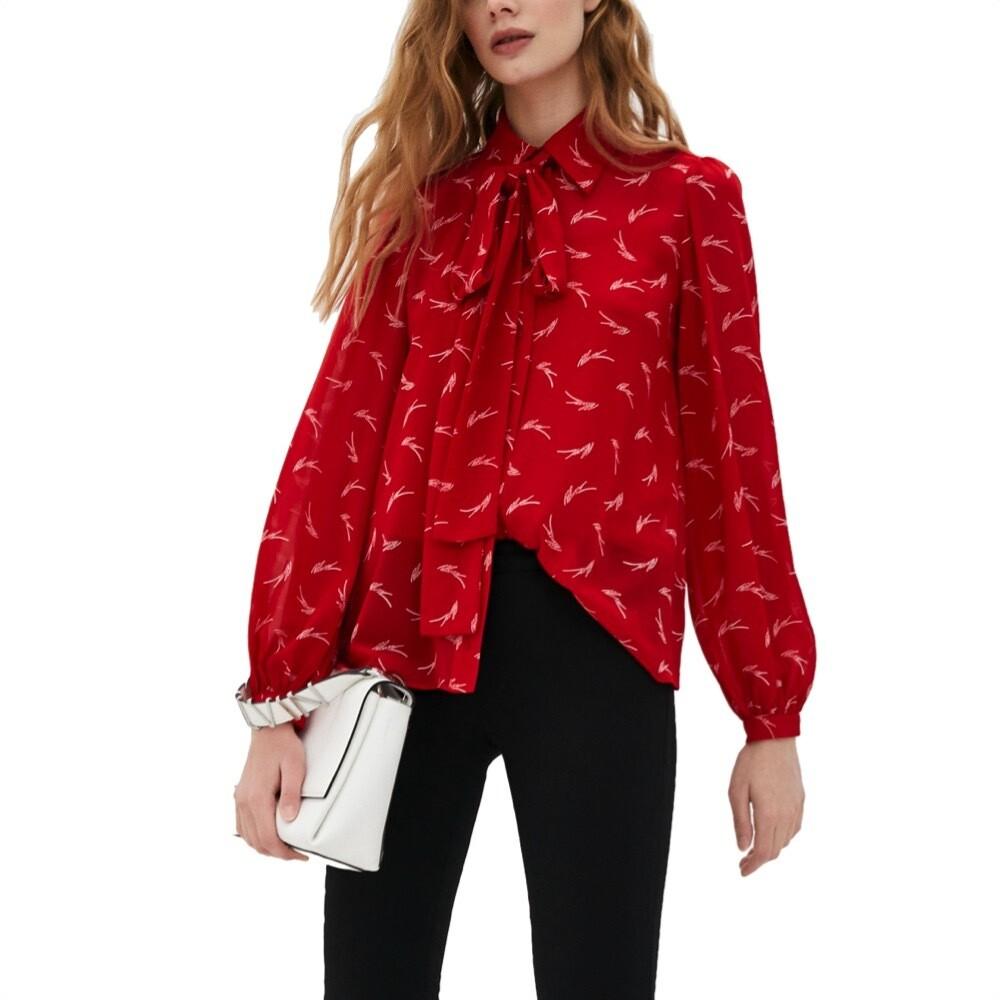 MICHAEL KORS - Camicia con fiocco - Crimson