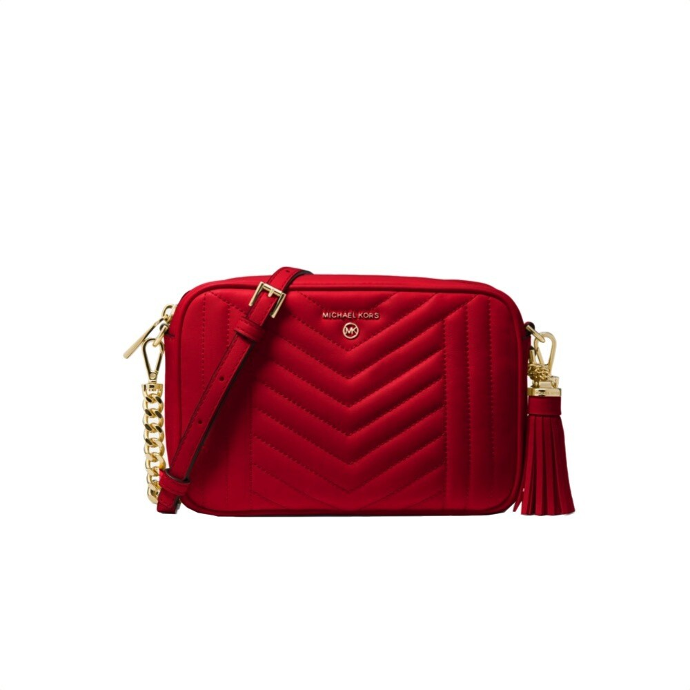 MICHAEL KORS - MD Camera Bag Jet Set Charm - Bright Red