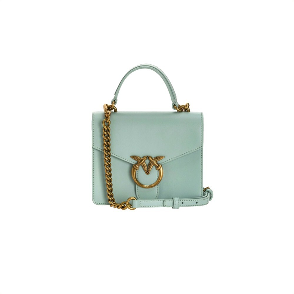 PINKO - Mini Love Bag Top Handle Simply - Aqua Green